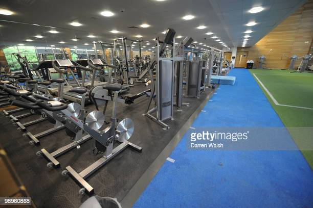 A general view of the gym at the Cobham Training ground on August 5 2009 in Cobham Surrey