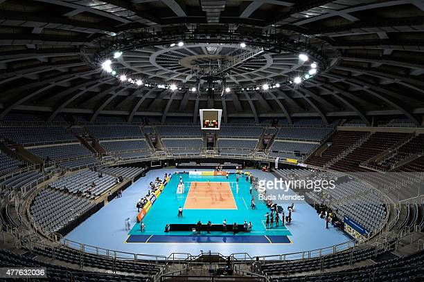 General view of the gymnasium during the Brazil v Japan Volleyball Challenge at Maracanazinho on June 18 2015 in Rio de Janeiro Brazil Maracanazinho...