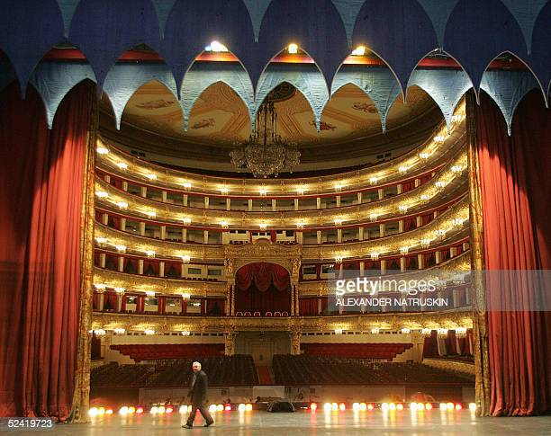 General view of the hall from the Bolshoi Theatre stage in Moscow 15 March 2005 Russian President Vladimir Putin visited the theatre and discussed...