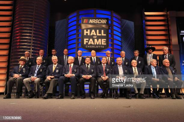 A general view of the Hall of Famer's during the NASCAR Hall of Fame Induction Ceremony at the Charlotte Convention Center on January 31 2020 in...