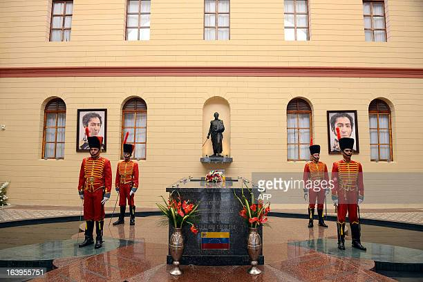 A general view of the hall where the remains of late Venezuelan President Hugo Chavez lie at the Quarter of the Mountain in the 23 de Enero Chavez...