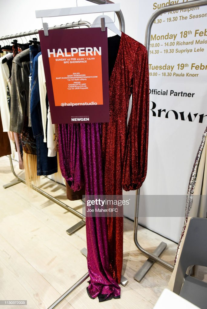 GBR: NEWGEN Pop-Up Showroom: Halpern - LFW February 2019