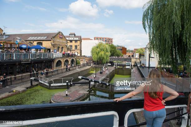 General view of the Hampstead Road Lock by Camden Lock on the Regent's Canal on August 3, 2019 in London, England.