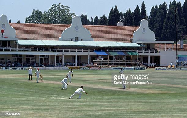 A general view of the Harare Sports Club cricket ground during the inaugural Test match between Zimbabwe and India in Harare 18th October 1992 The...