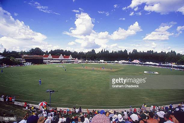 General view of the Harare Sports Club during the third one day international match between England and Zimbabwe held in February 2000 at the Harare...