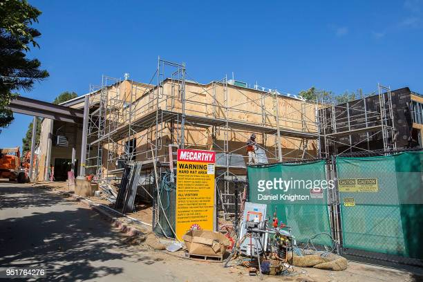 General view of the hard hat tour of the new LEGO CITY Deep Sea Adventure construction site on April 26 2018 in Carlsbad California