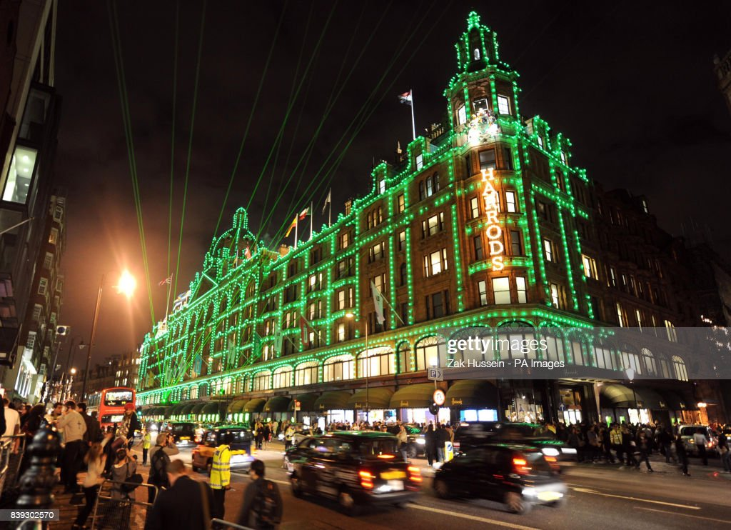 Dannii Minogue switches on Harrods Christmas lights - London - A General View Of The Harrods Christmas Lights Outside The