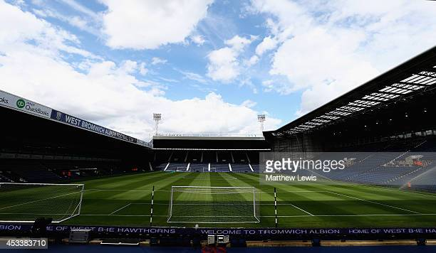 General view of the Hawthorns ahead of the Pre Season Friendly match between West Bromwich Albion and FC Porto at The Hawthorns on August 9, 2014 in...