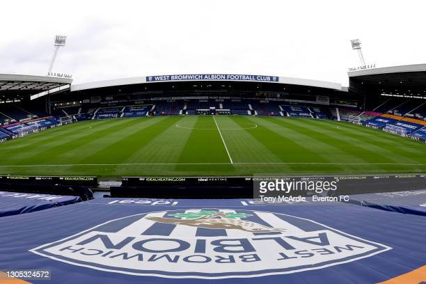 General view of The Hawthorns before the Premier League match between West Bromwich Albion and Everton at The Hawthorns on March 4 2021 in West...