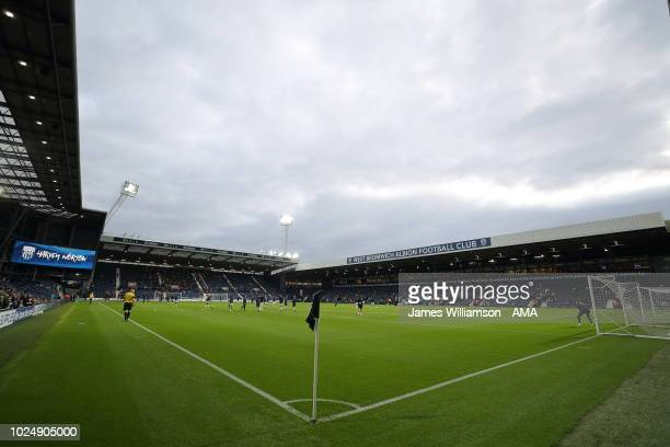 A general view of The Hawthorns home stadium of West Bromwich Albion during the Carabao Cup Second Round match between West Bromwich Albion and...