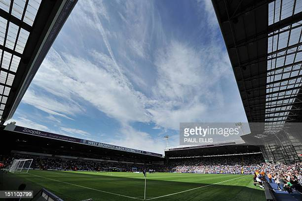 A general view of The Hawthorns pitch and stands before the English Premier League football match between West Bromwich Albion and Everton at The...