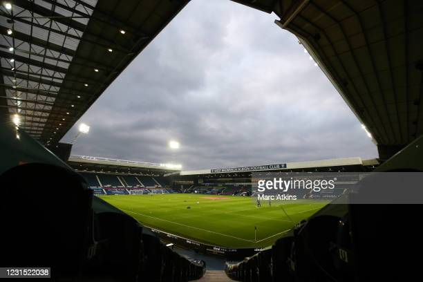 General view of The Hawthorns prior to the Premier League match between West Bromwich Albion and Everton at The Hawthorns on March 4, 2021 in West...