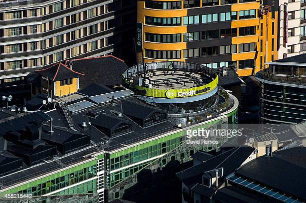 A general view of the headquarter of Credit Andorra Bank on October 31 2014 in Andorra la Vella Andorra Andorra is a tax haven status although it is...