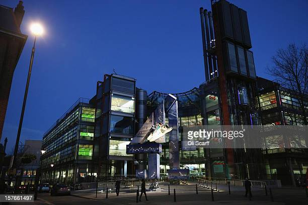 A general view of the headquarters of Channel Four television in Westminster on December 4 2012 in London England The large Channel Four logo in...