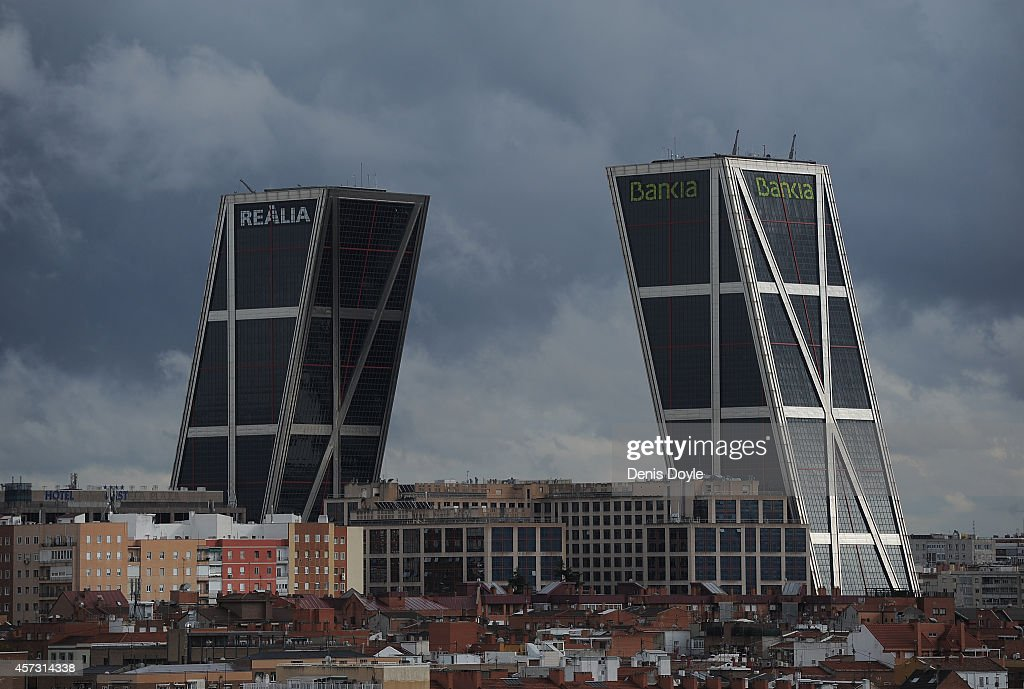 General view of the headquarters of Spanish bank Bankia on October 16, 2014 in Madrid Spain. Judge Fernando Andreu today questioned Rodrigo Rato along with former Bankia chief Miguel Blesa and former financial director Ildefonso Sanchez Barcoj over the misuse of company credit cards.