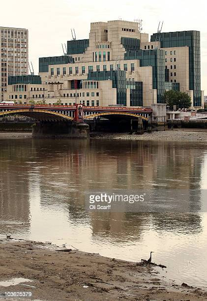 A general view of the headquarters of the British Secret Intelligence Service also known as MI6 in Vauxhall on August 25 2010 in London England...