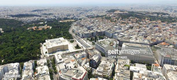 A general view of the Hellenic Parliament buildings in the Central Athens