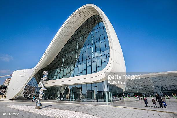 A general view of the Heydar Aliyev Centre in Baku