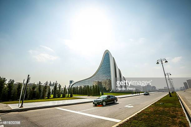A general view of the Heydar Aliyev Cultural Center