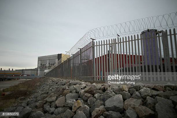 A general view of the Heysham 1 nuclear power station on February 16 2016 in Heysham England French energy provider EDF has announced that the life...