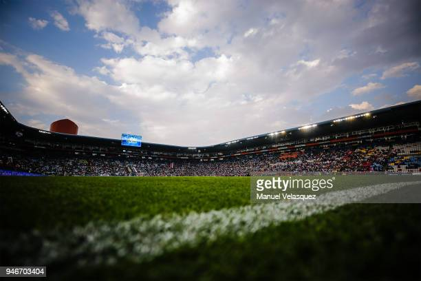 General view of the Hidalgo Stadium prior the 15th round match between Pachuca and Santos Laguna as part of the Torneo Clausura 2018 Liga MX at...