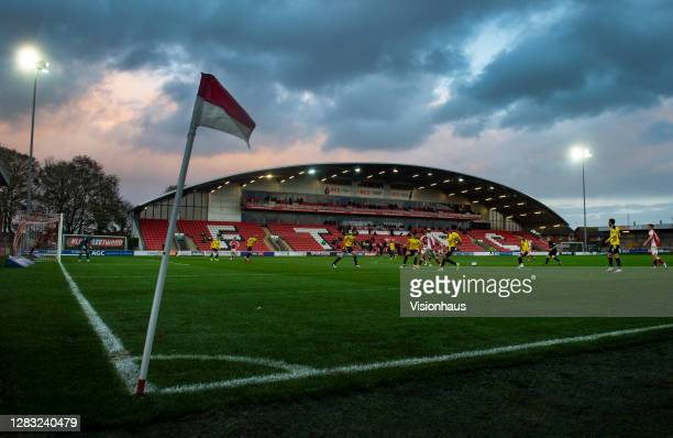General view of the Highbury Stadium during the Sky Bet League One match between Fleetwood Town and Oxford United at Highbury Stadium on October 31,...