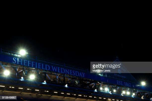 A general view of the Hillsborough Stadium ahead of The Emirates FA Cup Fourth Round match between Sheffield Wednesday and Reading on January 26 2018...