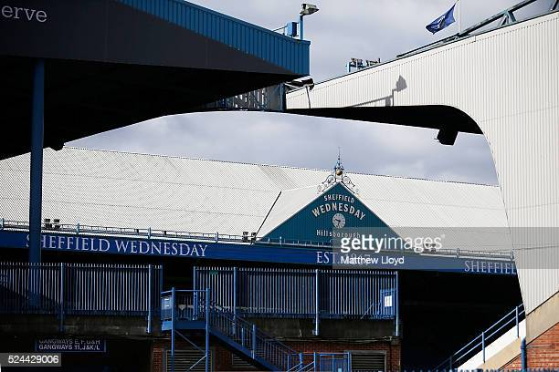 A general view of the Hillsborough stadium on April 26 2016 in Sheffield England The fresh inquests into the 1989 Hillsborough disaster in which 96...