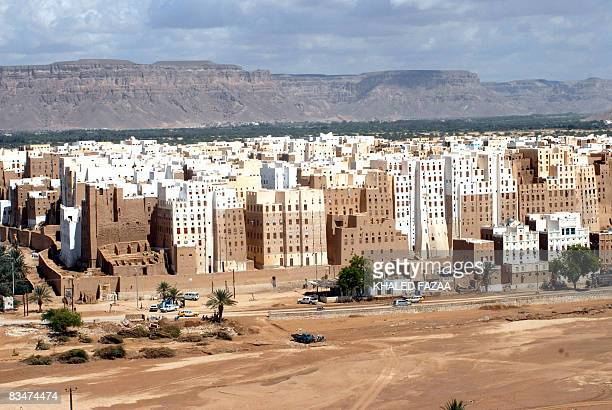 A general view of the historical city of Shibam in Hadramaut province of eastern Yemen on October 28 2008 President Ali Abdullah Saleh allocated 100...