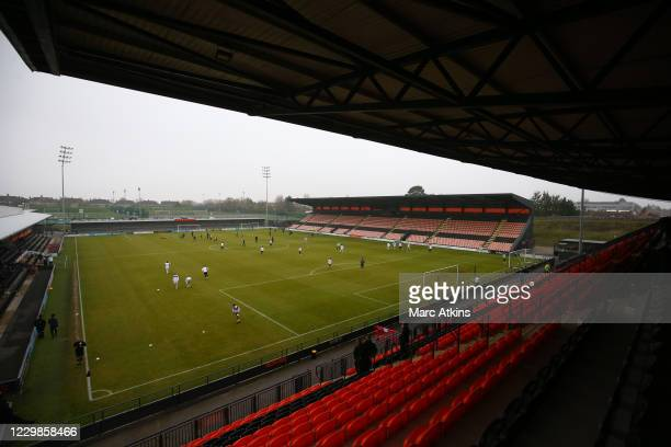 General view of The Hive Stadium prior to the Emirates FA Cup Second Round match between Barnet FC and Milton Keynes Dons at The Hive London on...