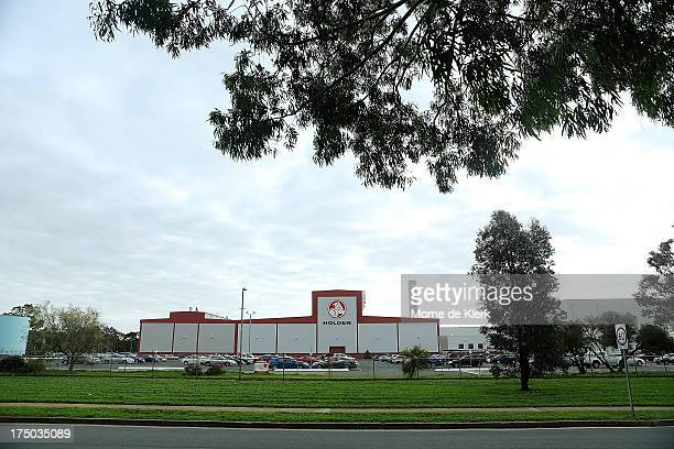 A general view of the Holden manufacturing plant at Elizabeth on July 30 2013 in Adelaide Australia Holden a subsidiary of American car giant General...