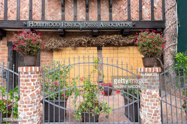 General view of the Hollywood Foreign Press Association who organizes the Golden Globes is seen on May 11 in West Hollywood, California. - The future...