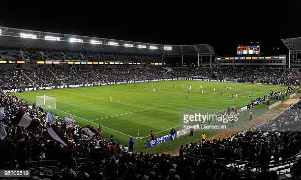 A general view of the Home Depot Center as Los Angeles Galaxy and Chivas USA clash during their MLS soccer match on April 1 2010 in Carson California