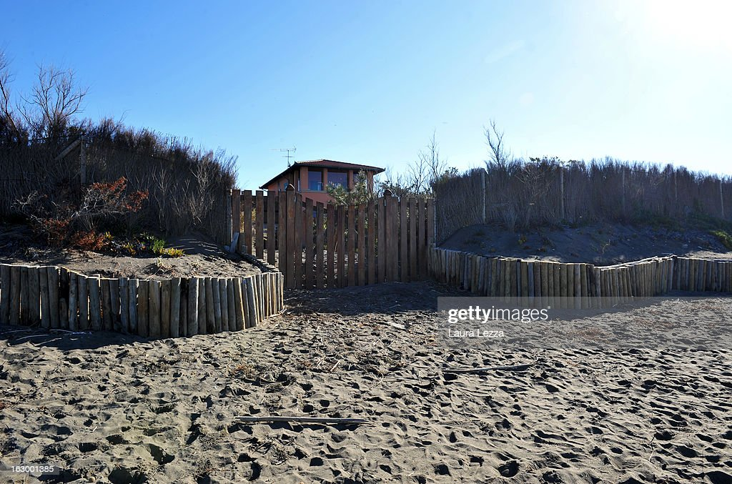 General view of the home of comedian, blogger, activist and political leader of the Five Stars Movement (M5S) Beppe Grillo is seen on March 3, 2013 in Marina di Bibbona, near Livorno, Italy.