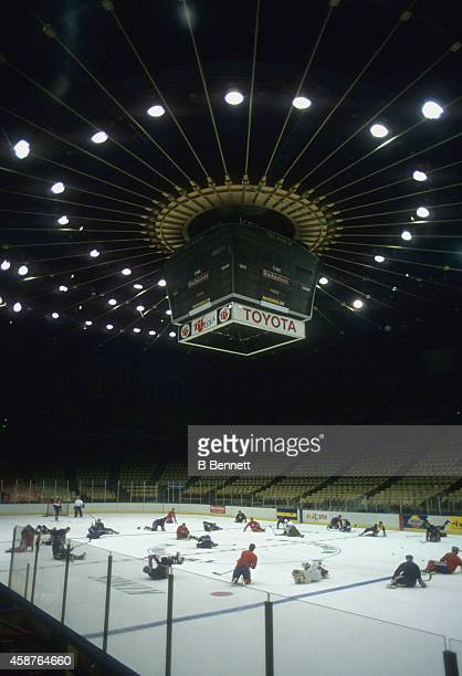General View of the home of the Los Angeles Kings circa 1980's at the Forum in Inglewood California