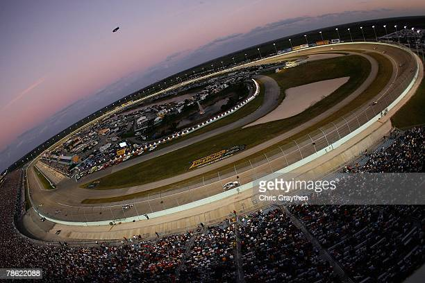 A general view of the HomesteadMiami Speedway racetrack during the NASCAR Nextel Cup Series Ford 400 on November 18 2007 in Homestead Florida