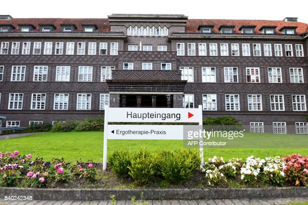 A general view of the Hospital Delmenhorst is seen in Oldenburg nothern Germany on August 28 2017 The German male nurse jailed for life two years ago...