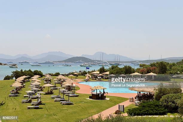 ACCESS*** A general view of the Hotel Cala di Volpe where the wedding of Singer Paul Anka and Anna Anka is celebrated at Cala di Volpe Bay on July 26...
