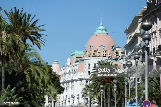 General view of the Hotel Negresco at the scene on Promenade des Anglais where a truck drove into a crowd during Bastille Day celebrations on 14 July...