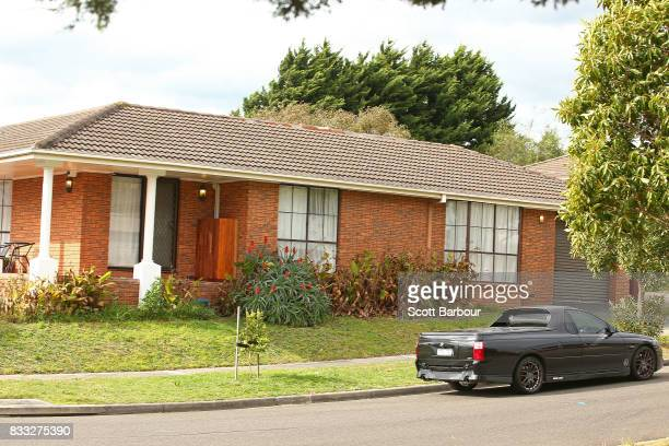 A general view of the house after a driveby shooting at a property in Narre Warren in Melbourne's south eastern suburbs on August 17 2017 in...