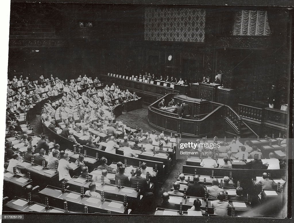View of the Japanese Diet Met in session : News Photo