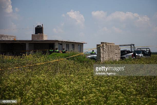 General view of the house where used by Joaquin 'El Chapo' Guzman to escape from the Maximum Security Prison of El Altiplano last Sunday, in Almoloya...