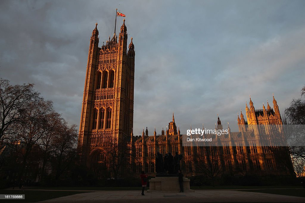 A general view of The Houses of Parliament at sunset on February 15, 2013 in London, England.