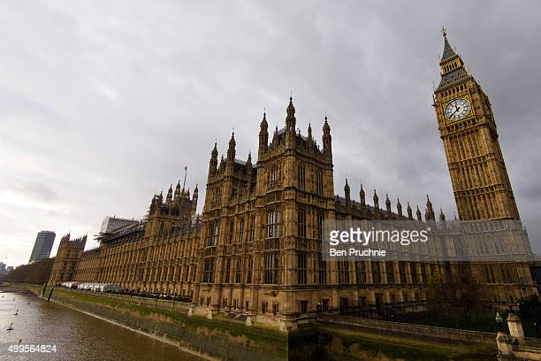 A general view of The Houses of Parliament on December 2 2015 in London England British MPs are expected to vote tonight on whether to back UK...
