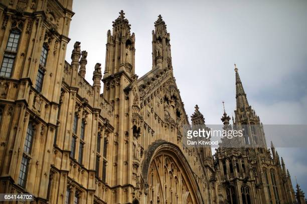 A general view of the Houses of Parliament on March 16 2017 in London England Reports suggest that Article 50 could be triggered soon and begin the...