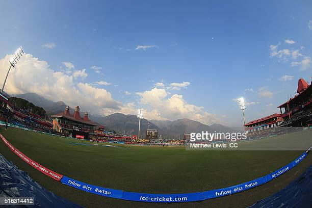 A general view of the HPCA Stadium during the ICC World Twenty20 India 2016 match between Australia and New Zealand at the HPCA Stadium on March 18...