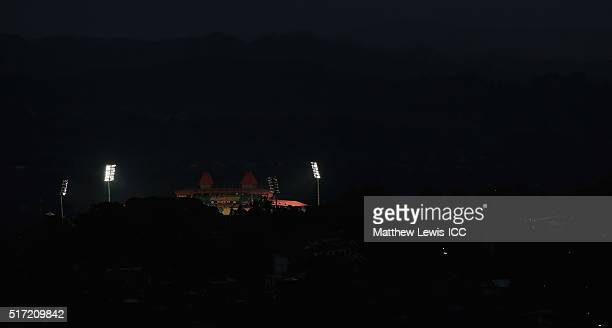 A general view of the HPCA Stadium during the Women's ICC World Twenty20 India 2016 match between England and the West Indies at the HPCA Stadium on...
