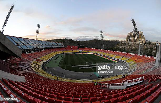 General view of the Hrazdan Stadium prior to the FIFA 2014 World Cup Qualifier group B match between Armenia and Italy at Hrazdan Stadium on October...