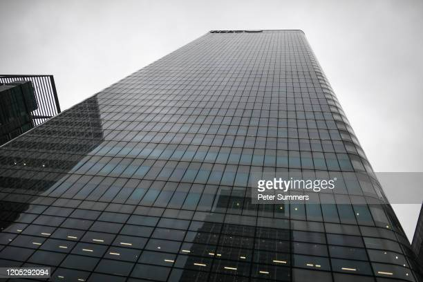General view of the HSBC tower at Canary Wharf on March 5 2020 in London England HSBC cleared the research department earlier today Thurs after a...