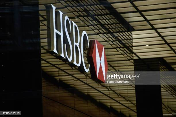 General view of the HSBC tower at Canary Wharf on March 5, 2020 in London, England. HSBC cleared the research department earlier today, Thurs, after...